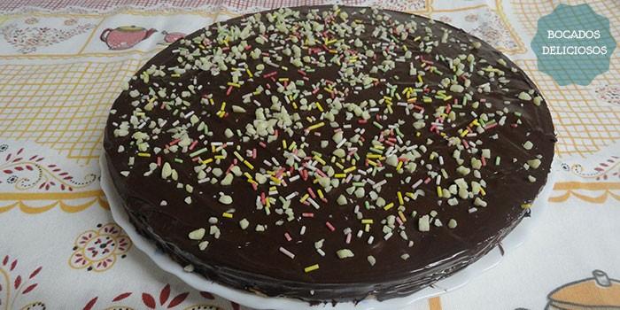 Tarta de chocolate crujiente