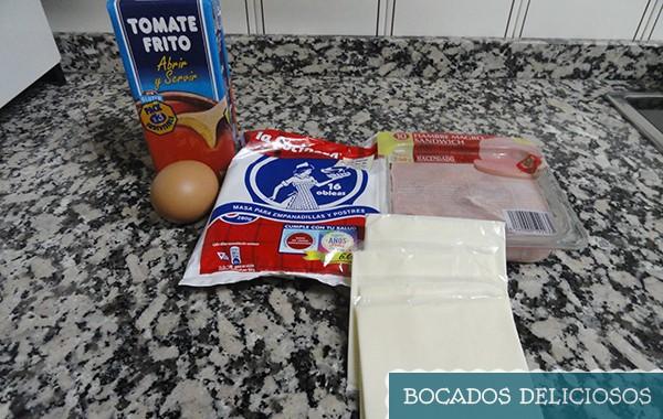 ingredientes de los bocados de obleas rellenos