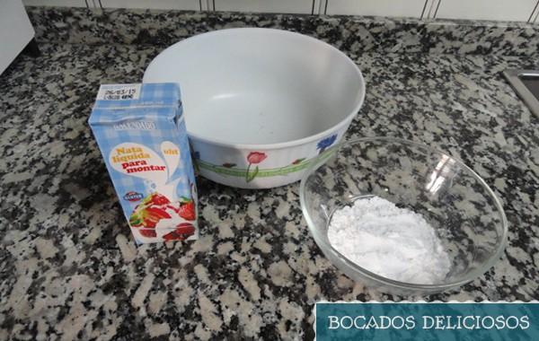 ingredientes para nata montada