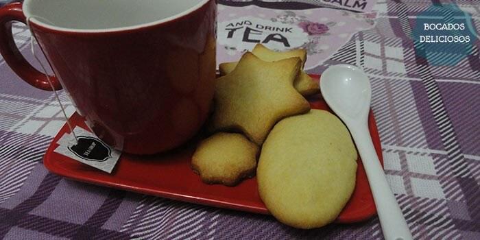galletas de mantequilla pastas de te