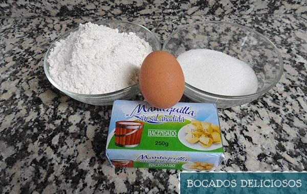 ingredientes galletas de mantequilla pastas de te