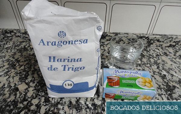 ingredientes para masa de hojaldre casero