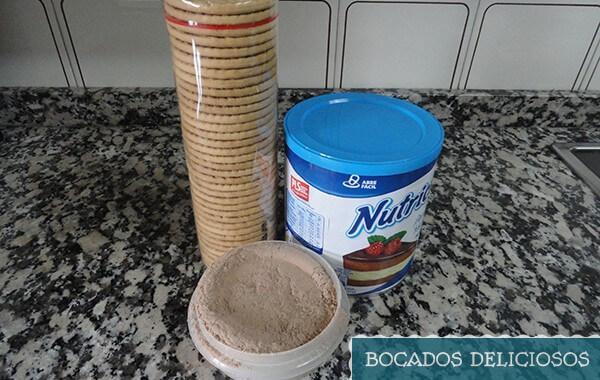 ingredientes trufas de galleta y leche condensada