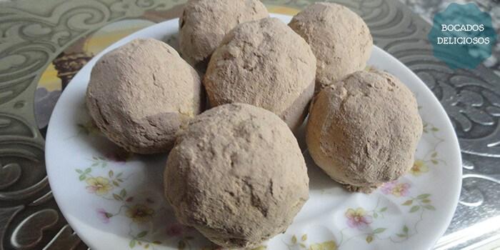 receta trufas de galleta y leche condensada