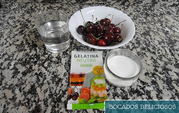 ingredientes gelatina de cereza