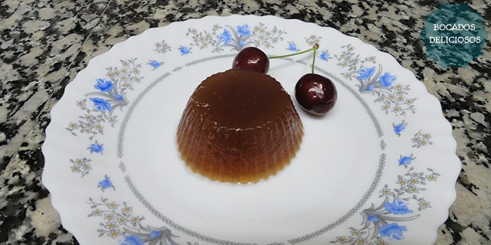 receta gelatina de cerezas