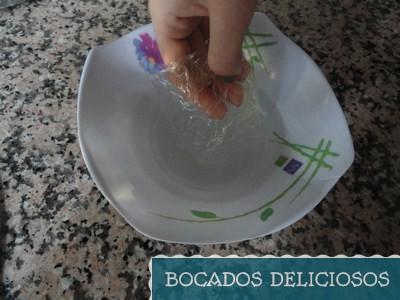 hidratamos la gelatina con agua