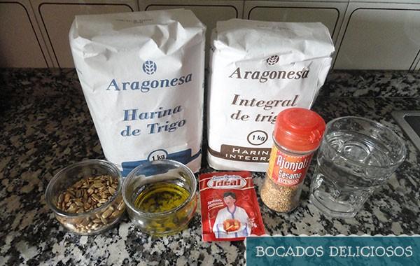 ingredientes pan de semillas