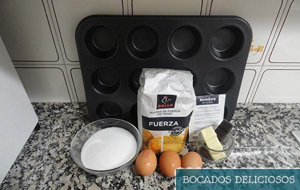 ingredientes muffins calabaza para halloween
