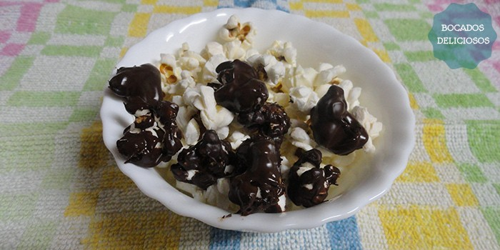 Palomitas de maíz con chocolate