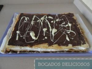decoramos con chocolate negro y blanco