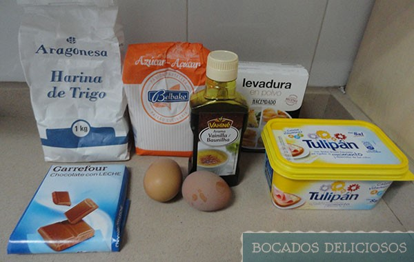 ingredientes Tarta Cookie