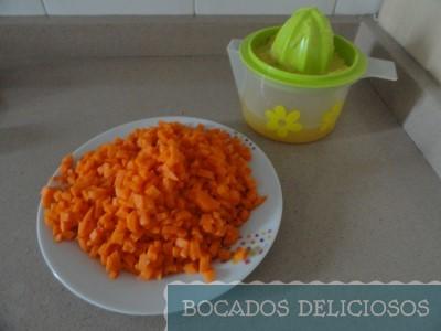 Troceamos las zanahorias