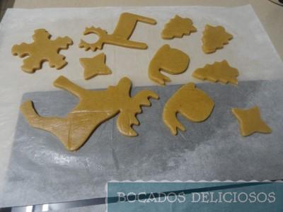 damos forma a las galletas