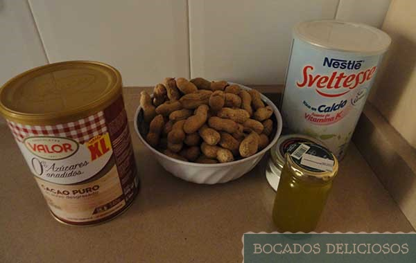 ingredientes de mantequilla de cacahuete