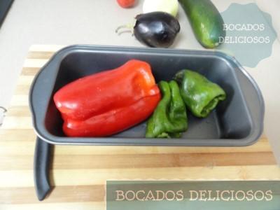 Preparamos verduras para hornear: Pimiento verde y rojo