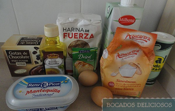 Ingredientes de Mini-Panettone casero