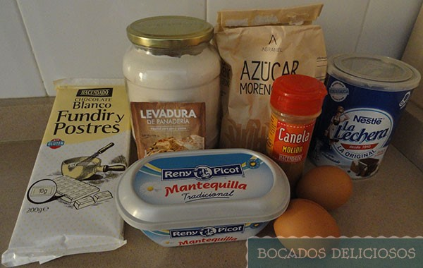 Ingredientes Brownie chocolate blanco