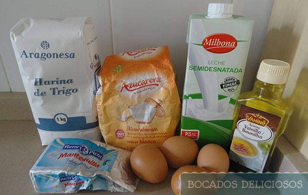 Ingredientes pastel mágico